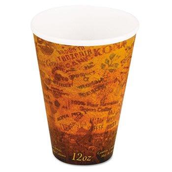 Dart 12U16ESC Fusion 12 oz Escape Design Printed Hot Foam Cup