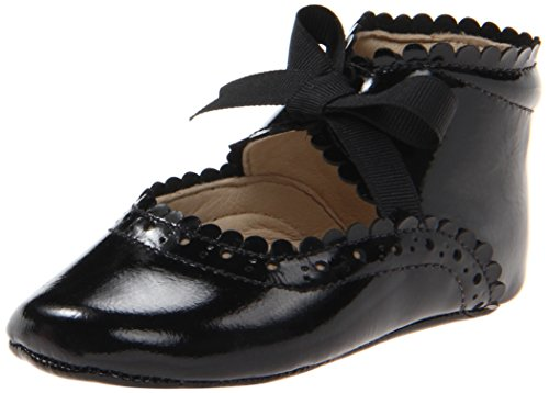 Elephantito Girls' Baby Sabrinas Crib Shoe, Black Patent, 0 M US (Patent Crib Shoes)