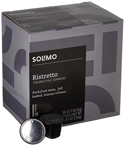 Amazon Brand - 50 Ct. Solimo Espresso Pods, Ristretto, Nespresso OriginalLine Compatible Capsules