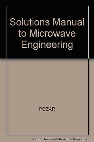 solutions manual to microwave engineering pozar 9780201504194 rh amazon com  pozar solution manual pdf