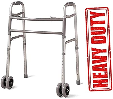 Heavy Duty Bariatric Extra Wide Folding Walker with 5