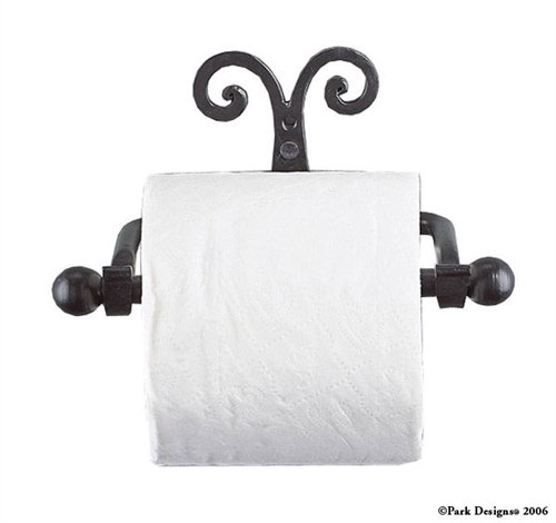 Scroll Toilet Tissue Holder, Park Designs (Black Wrought Iron Scroll)
