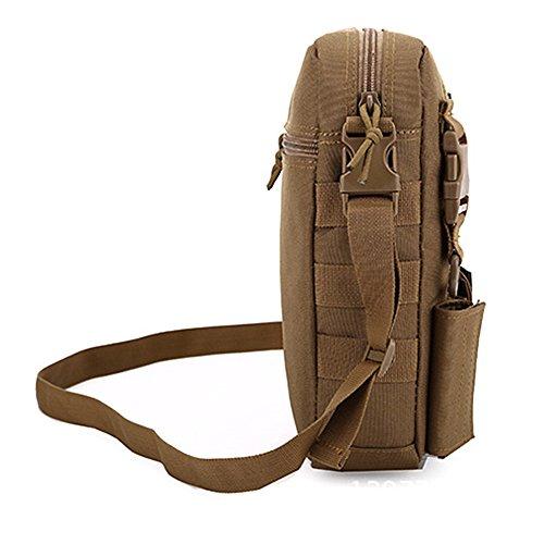 e-jiaen bolsa de deporte bolsa de hombro para Casual al aire libre viaje senderismo Camping, C6 marrón