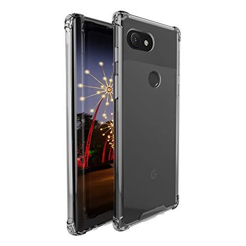 amCase Google Pixel 3a Case, Hybrid Shock Absorbing TPU Frame & Rigid Back Plate Case for Pixel 3a (2019) - Clear