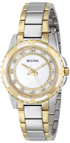 Bulova Women's 98P140 Analog Display Japanese Quartz Two Tone Watch ()