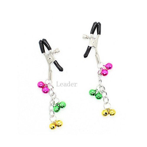 10Pcs/Lot Adjustable Nipple Clamp with Six Colorized Small Bell Adult Flirting Sex Toys for Women by Nipple Clamps