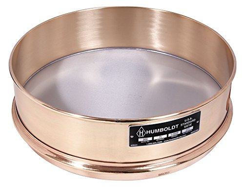 Humboldt - 5JCK3 - Wet Washing Sieve, 12 In, No 200, 8 In Deep by Humboldt