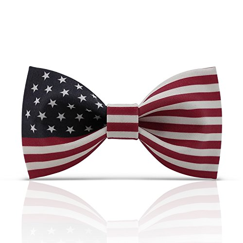 Lanzonia American Bow Ties for Men, Novelty Designer