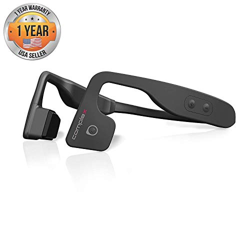 Bluetooth Bone Conduction Sport Headphones - Open Ear Stereo Running Headset w/ Revolutionary Bone Induction Technology for Smart Cycling and Sports