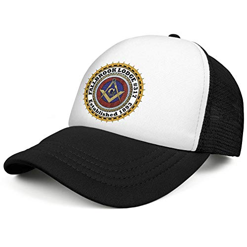 QILI California Freemasons in North San Diego Vintage Mesh Snapback Hats Sun Protection Trucker Cap Adjustable Unisex -