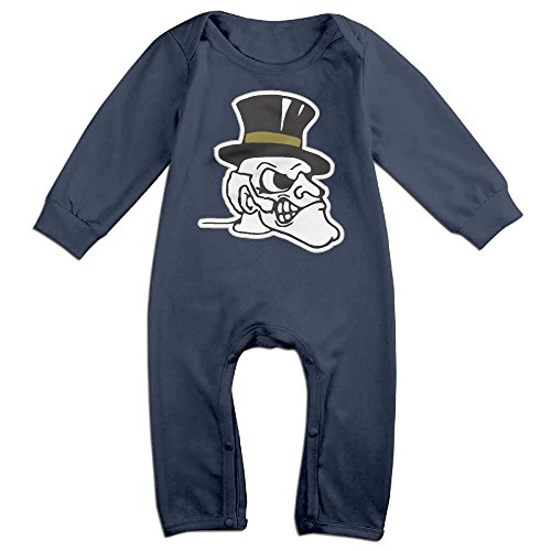 Price comparison product image OOKOO Baby's Wake Forest University Bodysuits Outfits Navy 18 Months