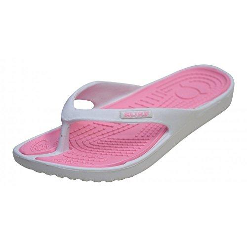 Sandalias para mujer y hombre, Surf EVA/QUIVA, para surf, verano, playa, tallas 36-41 Rosa
