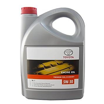 Toyota engine oil SAE 5W-30 Premium Fuel Economy: Amazon co uk: Car