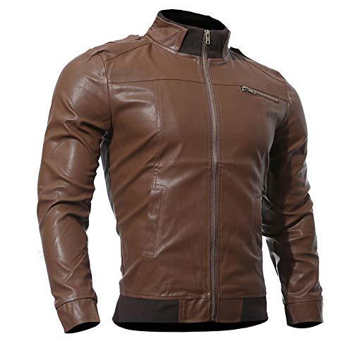 Automne Foncé Kobay Hauts Outwear Cuir Casual Bleu Veste Hiver Faux Moto Hommes 4AwAqpHxT