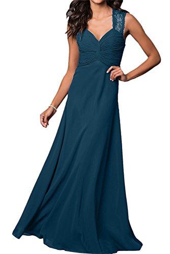 Inkblau Ivydressing Damen Linie Spitze Promkleid Chiffon Festkleid A Abendkleider Lang Ballkleider TvxqgrawT