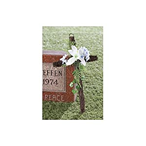 "Fox Valley Traders Grapevine Easter Cross with Flowers, 18"" Long x 10"" Wide 2"