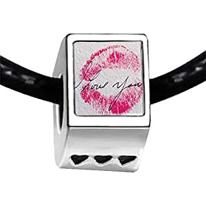 Chicforest Silver Plated I Love You Kiss Photo Three Heart Charm Beads Fits Pandora Biagi Troll Chamilia Kay's Beads Charms