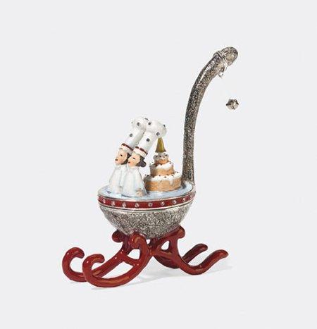 Department 56 Krinkles~~SPOON SLEIGH Jeweled Hinged Box 2008