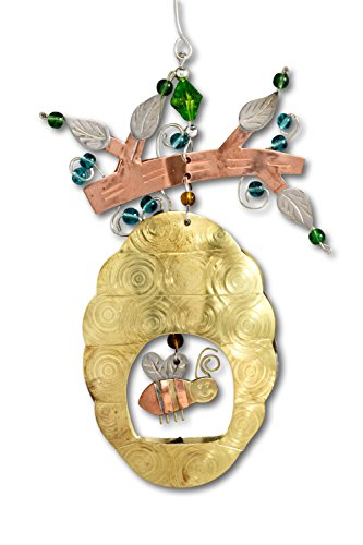 Pilgrim Imports Fair Trade Bee Hive Ornament,fun bee ornaments for christmas