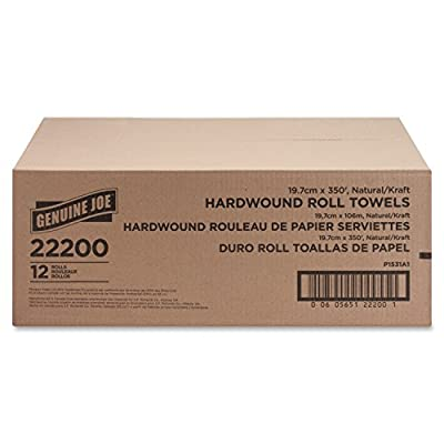 Genuine Joe GJO22200 Hard Wound Roll Towel, 350' Length x 7-8/9