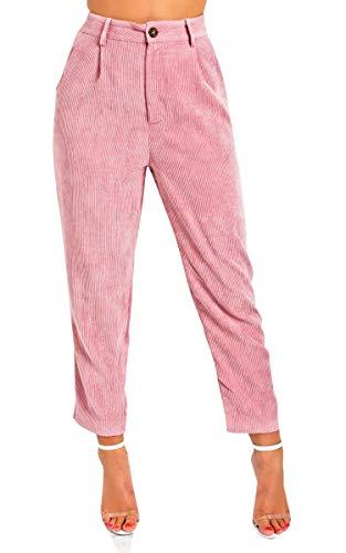 Ikrush Womens Micky Jambe Droite Pantalons De Corde Pink