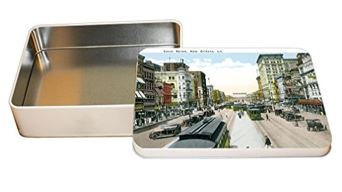 Canal Street, New Orleans, La #2 Decorative Metal Tin Trinket Box - New In Canal Street Orleans