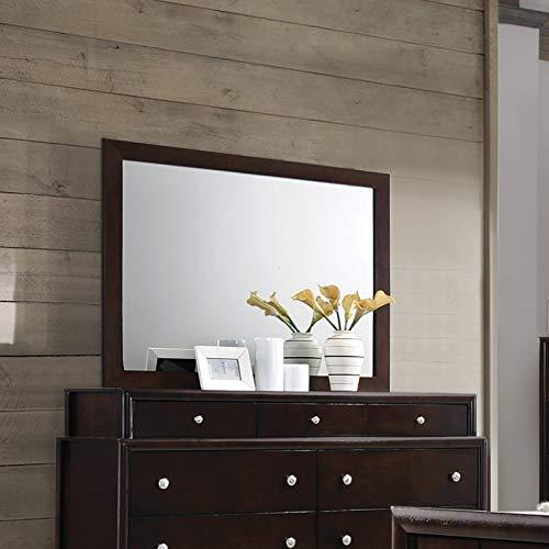 - Coaster Home Furnishings 204884 Dresser Mirror, Dark Merlot
