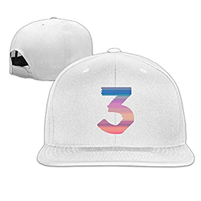 Unisex Chance The Rapper Number 3 Snapback Ajustable Flat Cap White