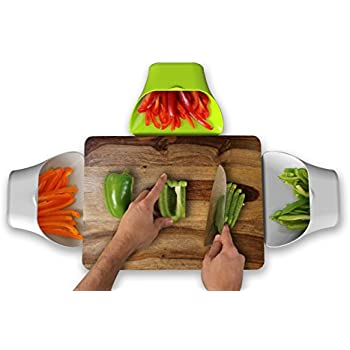 ThinkHat ChopTainer Cutting Board Space Saver, Meal Prep Storage, Salad  Containers, Portion Control
