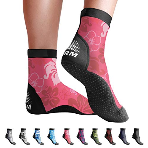 BPS 'Second Skin' Ultra Stretch Fin Socks for Water Sports & Beach Activities