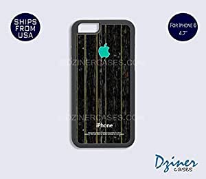 Case Cover For Ipod Touch 5 model - Black Wood Print Turquoise (NOT REAL WOOD)