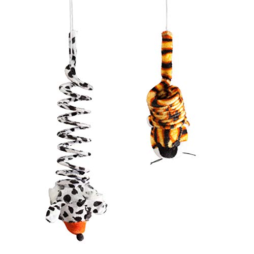 (Fox Valley Traders Hanging Bouncy Cat Toys, Set of 2)