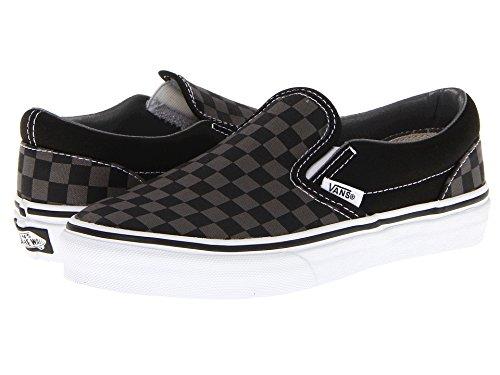 Vans Boys' Classic Slip-On (Tod/Yth) - (Checkerboard) Black/Pewter - 2 (Little Boys Vans)
