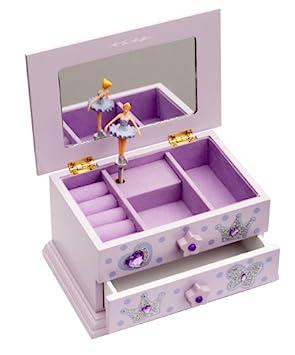 Girls Lilac Beautiful Ballet Dance Wooden Music Jewellery Box By ...