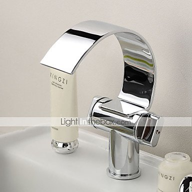 GDS Faucet£¬ Two contemporary single Chrome Centerset bathroom sink faucet holes