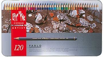 CREATIVE ART MATERIALS Pablo Colored Pencil Set Of 120 Metal Box (666.420) by CREATIVE ART MATERIALS