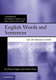 English Words and Sentences (Cambridge Introductions to the English Language)