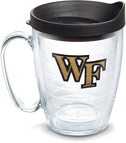 Tervis 1067844 Wake Forest Demon Deacons Logo Tumbler with Emblem and Black Lid 16oz Mug, Clear