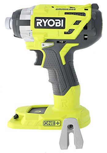 Ryobi P238 18V One+ Brushless 1/4 2,000 Inch Pound, 3,100 RPM Cordless Impact Driver w/ Gripzone Overmold, Belt Clip, and Tri-Beam LED (Power Tool Only, Battery Not Included) by Ryobi (Image #1)