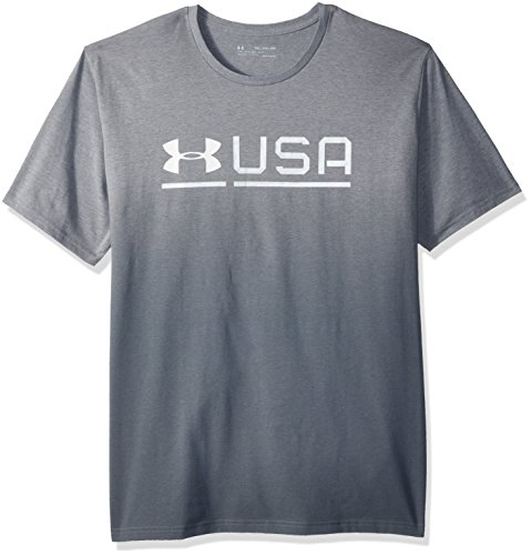 Under Armour Mens Usa Graphic Tee, Steel Light Heather /White, X-Large (Mens Under Armour Graphic Tees)