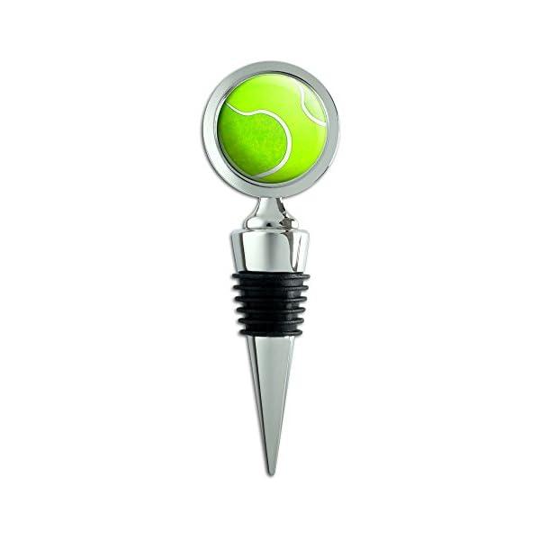 פקק לבקבוקי יין - רב פעמי ממתכת וגומי בסגנון של כדור טניס !