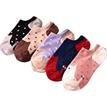 AM CLOTHES Womens Cute 5 Pack Low Cut Colorful Cat Ankle Socks