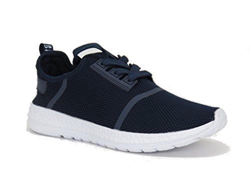Blaue Berry EASY21 Frauen-beiläufige Art- und Weiseturnschuhe Breathable athletische Sport-leichte Schuhe Marineblau-71