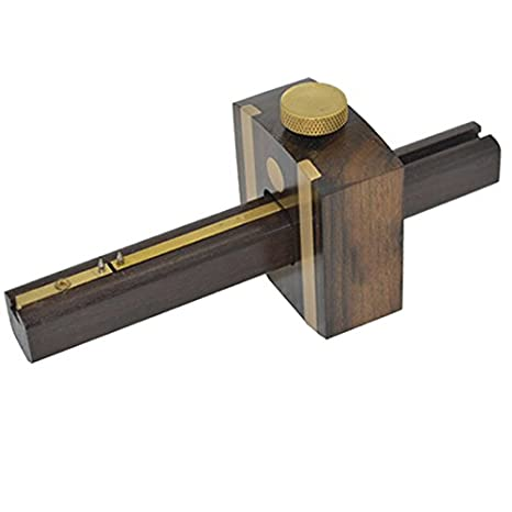 Tebisi Marking Meter 8inch 20cm Ebony Woodworking Marking Gauge Multi Function Screw Type Woodworking Tool