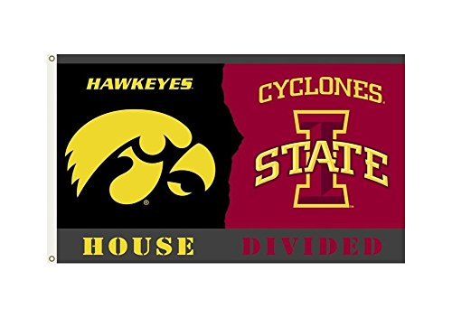 Iowa Hawkeyes / Iowa State Cyclones Rivalry Flag 3x5 Rivalry House Flag