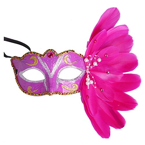 Party Masks - Muffled Christmas Halloween Feather Masked Mask Red - Pack Women Headbands Wear Male Capes Gold Bulk Masks Party Lace Glasses Stick Dinosaur Masquerade Superhero Adults Couples Kids ()