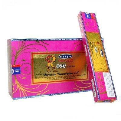 Satya Natural Rose Incense Sticks 180 Grams Full Box - Satya Natural Incense