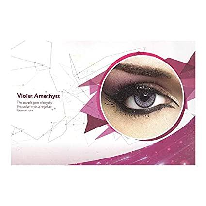 617472d84fd Buy Natural Look colour contact Lens Violet Amethyst color 3 months  disposable (pack of 2 pcs + 1 free lens case) Online at Low Prices in India  - Amazon.in