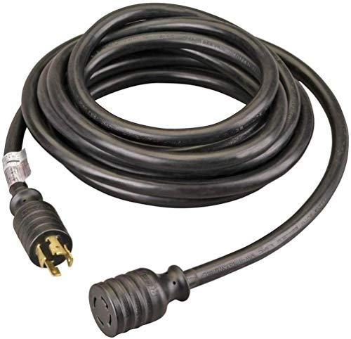 Winco Generators PC3020M Heavy-Duty 30A 20 Foot Lenght Power Cord Fits with All Genrator Models with NEMA L14-30, 7500 Max. Generator Running Watts, 30A@125/250VAC Max. Generator Input
