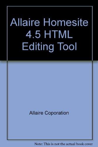 Allaire Homesite 4.5 HTML Editing Tool Homesite Tool